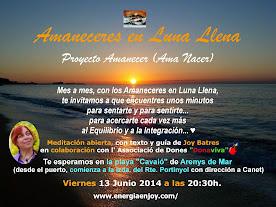 """PRÓXIMA MEDITACIÓN """"AMANECER EN LUNA LLENA""""  EN LA PLAYA DE ARENYS DE MAR (BCN) EL 13 JUNIO 2014"""