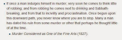 Murder  considered as one of the fine arts
