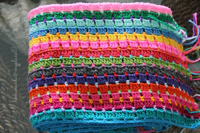 Homemademyplace Block Stitch Afghan The Way I Do It