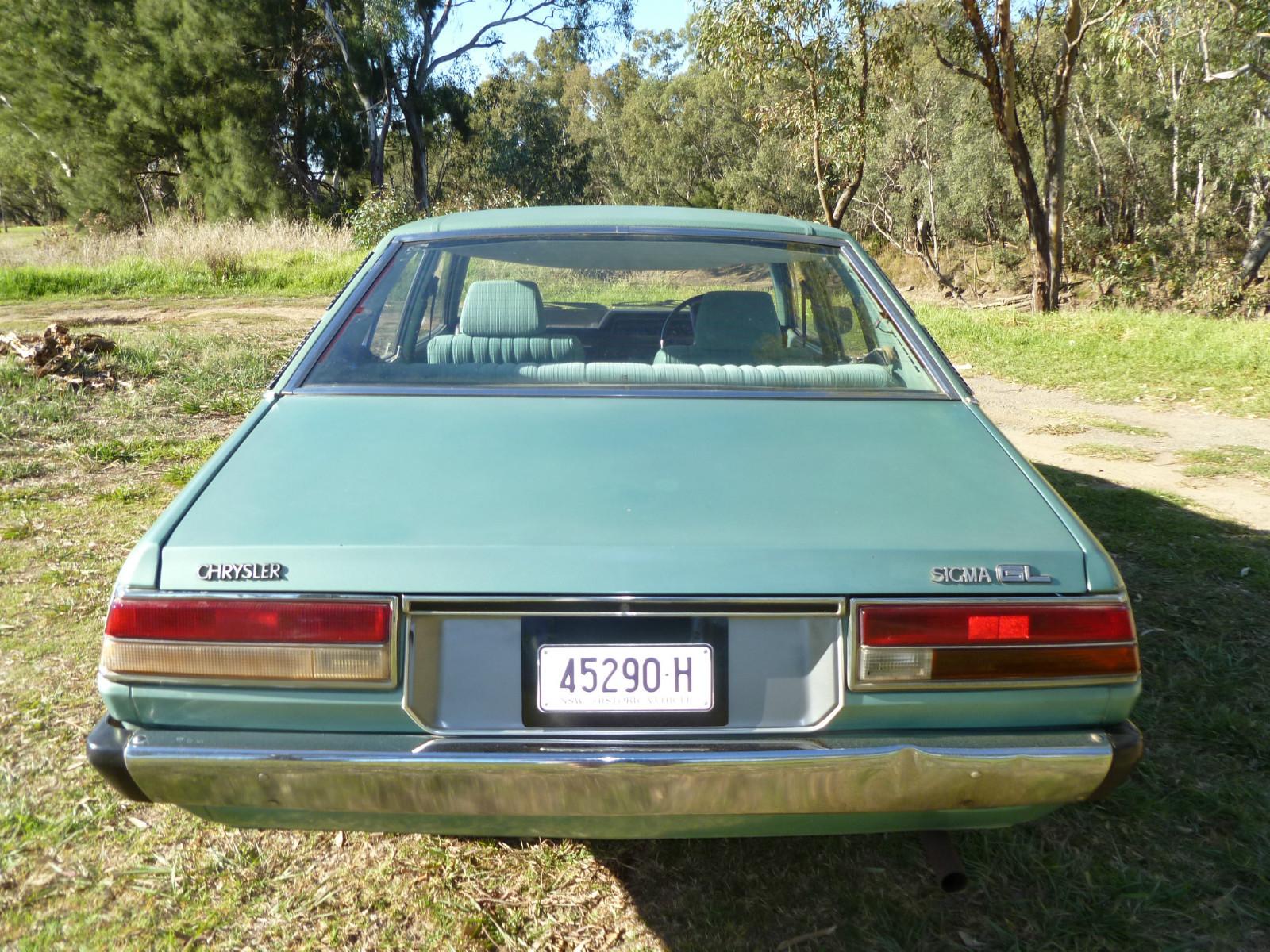 Galant-Sigma.com: For Sale: green 1979 Chrysler Sigma GL automatic sedan