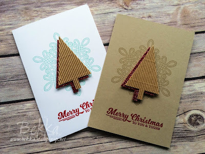 Quick Textured Trees Christmas Card - get the details here
