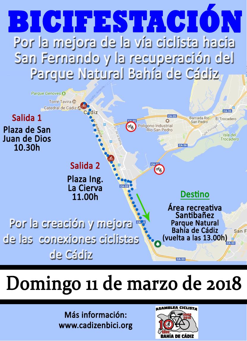 ¡SUSPENDIDA! Bicifestación el 11 de marzo 2018 hasta el Área Recreativa de Santibáñez.