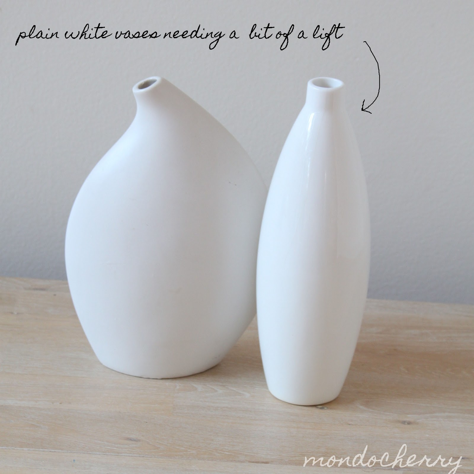 A small bite of mondocherry diy dipped vases