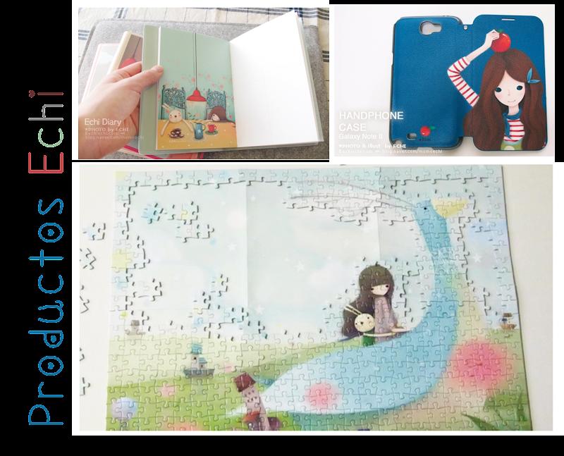 productos de la artista coreana Echi