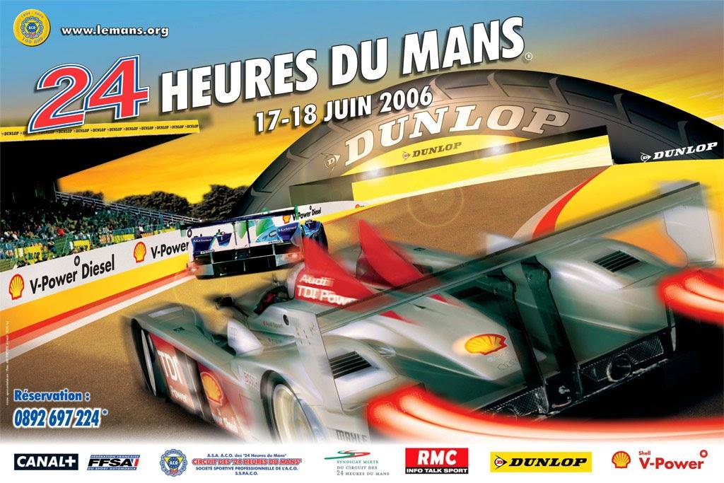 Affiche officielle des 24 Heures du Mans 2006