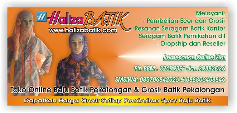 Grosir Batik Pekalongan, Baju Batik Haliza, Batik Pekalongan Haliza, Model Batik Haliza