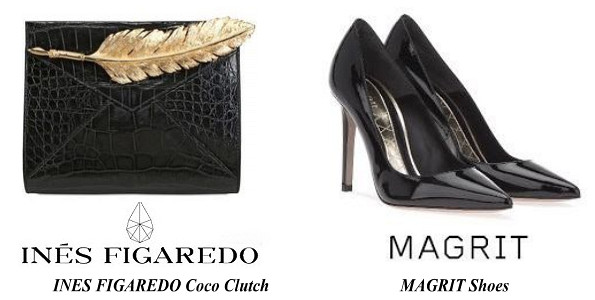 Queen Letizia's INES FIGAREDO Coco Clutch And MAGRIT Shoes