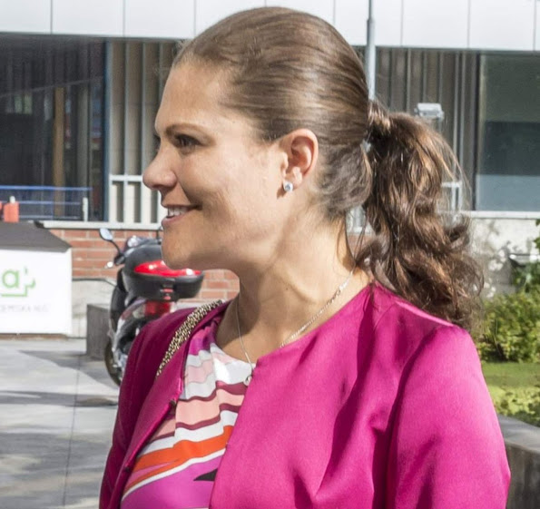 Crown Princess Victoria of Sweden attended the 10th anniversary of the European Centre for Disease Prevention and Control (ECDC) at the Karolinska Instituut