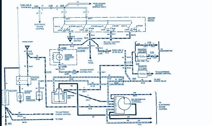 Circuit Panel  1988 Ford F150 Wiring Diagram