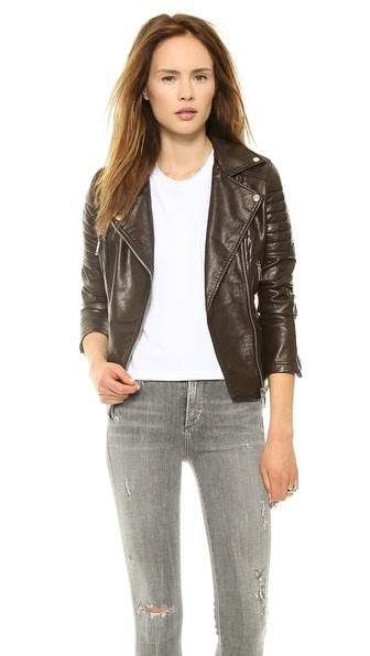 Imitation Leather Jacket by: Blank Denim  @Shopbop
