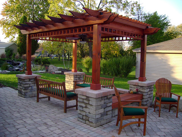 Back Yard Patio Pergola Design Ideas  Best House Design Ideas