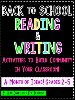 http://www.teacherspayteachers.com/Product/Back-to-School-Reading-Writing-Activities-to-Build-Community-in-Your-Classroom-1371400
