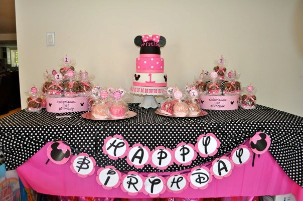 Minnie Mouse Candy Table Ideas Photograph Minnie Mouse Cak
