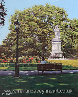 Girl Waiting at Southampton Watts Park oil painting