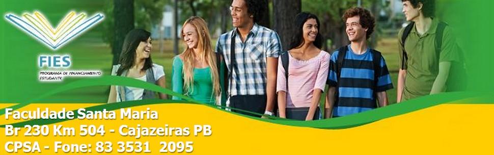 FIES Faculdade Santa Maria - Cajazeiras PB