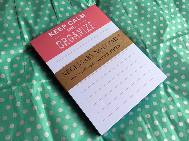 """Keep Calm and Organize"" Notepad"