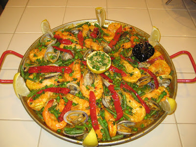 authentic seafood Spanish paella