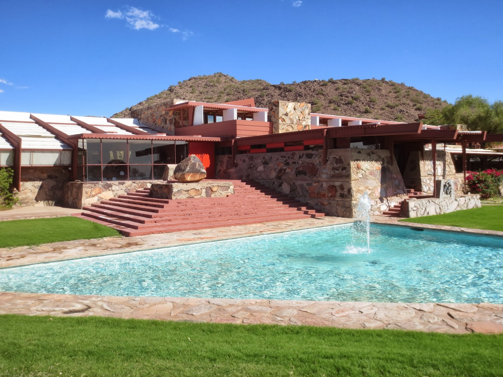 the work of frank lloyd wright in building taliesin west Tour the site and stop in the store featuring wright's work and more  frank  lloyd wright began building his desert masterpiece taliesin west in 1937 as his .