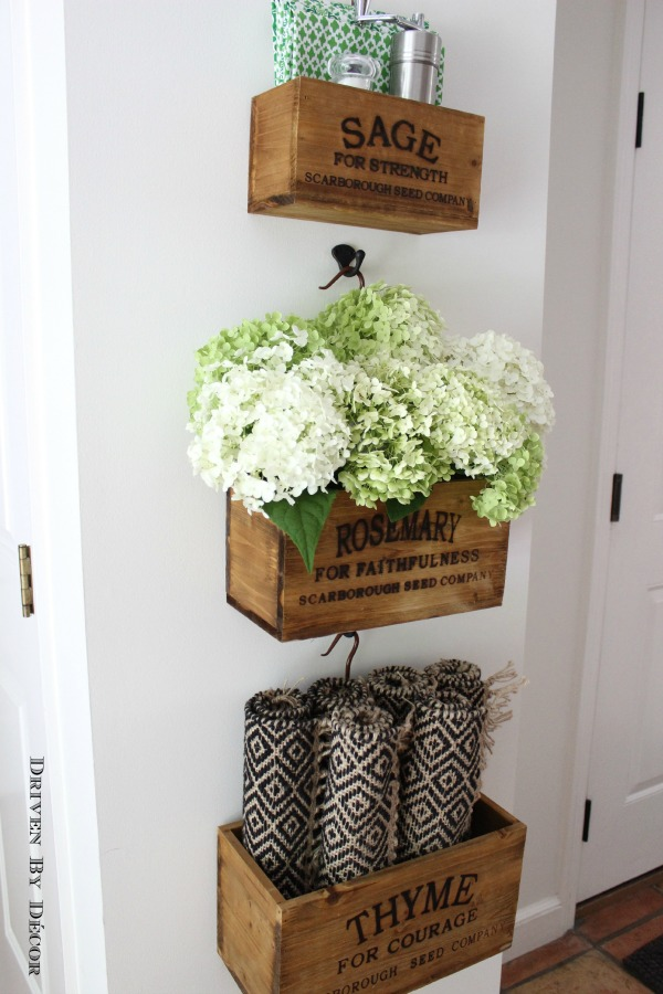 Warming Up The Kitchen Nesting Herb Crates Driven By Decor