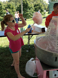 Maggie making/eating cotton candy