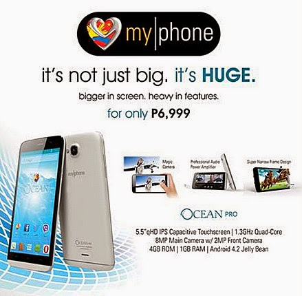 MyPhone Agua Ocean Pro, MyPhone Android Smartphone, MyPhone Phablet