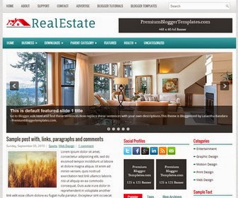 RealEstate Blogger Template