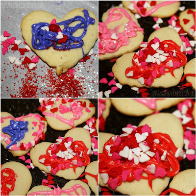 Grandboys decorated valentine cookies