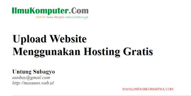 upload website, hosting gratis