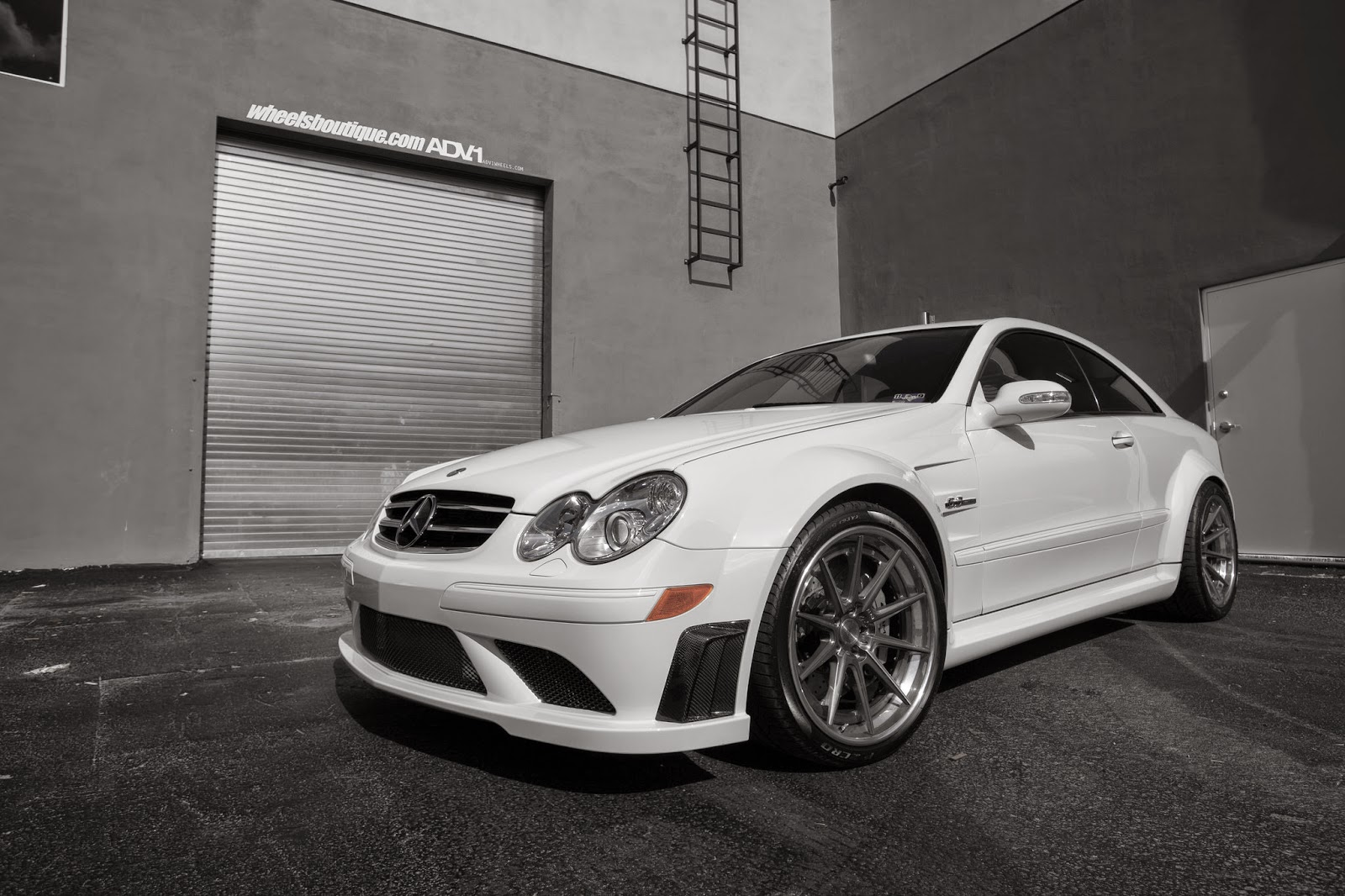 Mercedes benz clk63 amg black series on adv 1 wheels for Mercedes benz e series amg