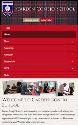 Responsive Website for School