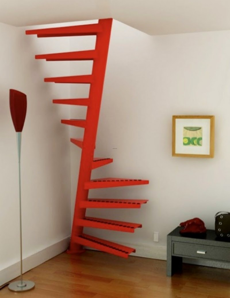 Interior Stairs Design Corner Spairal Stair Saving Space