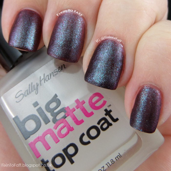 Swatch of Orly Galaxy Girl, matted.