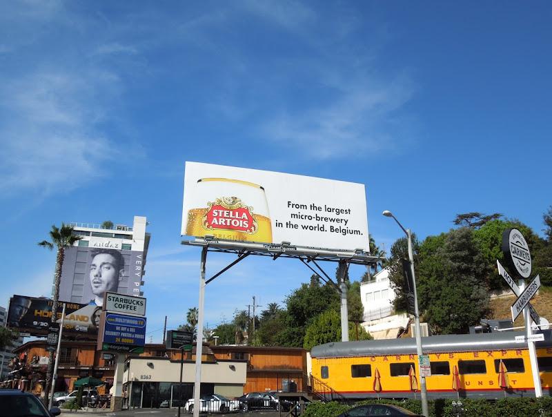 Stella Artois largest microbrewery billboard