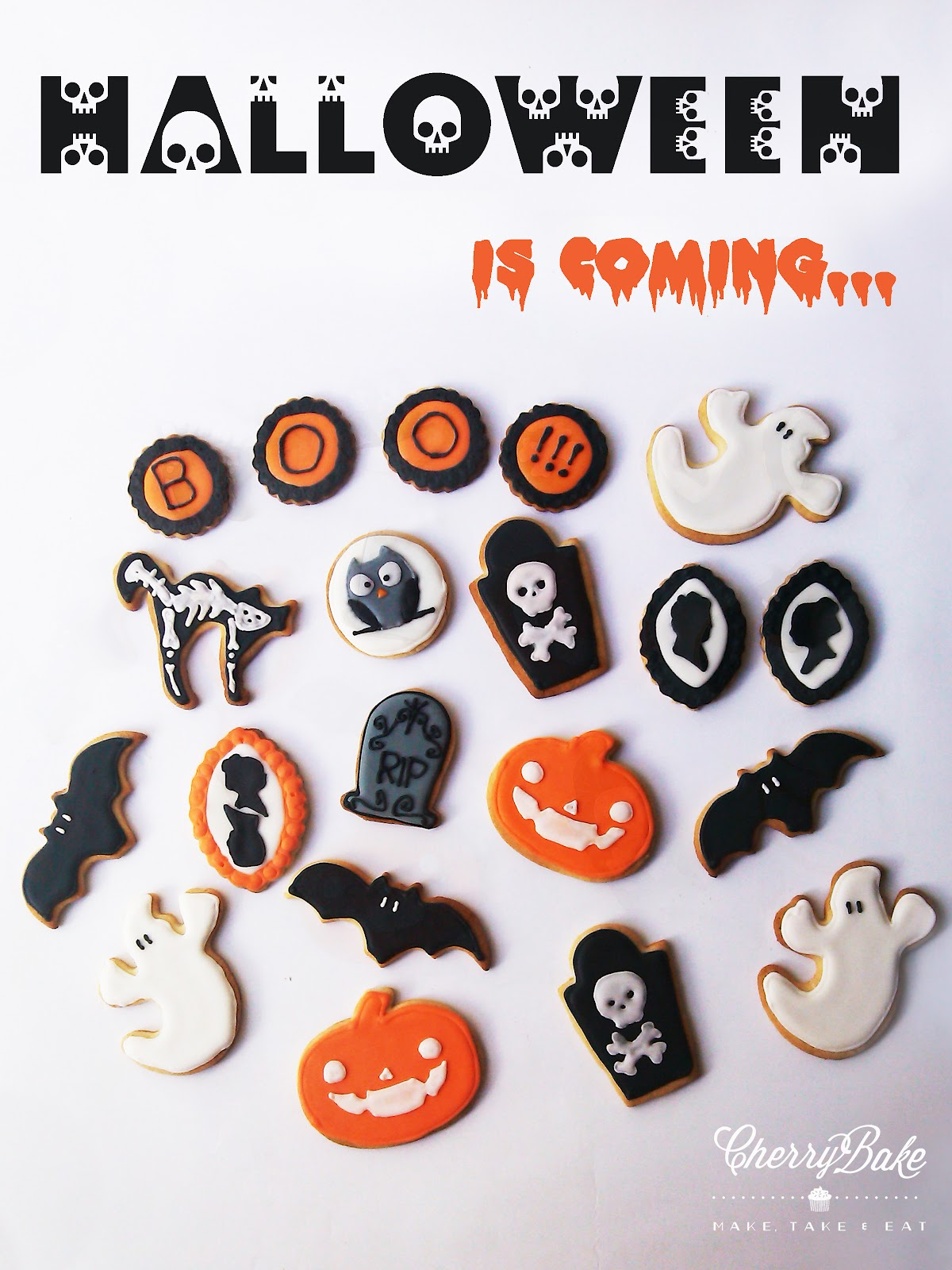 Halloween Cookies! Galletas de Halloween!