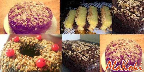 Resep Cake Lapis Tabur Enting Kacang dan Cara Membuat