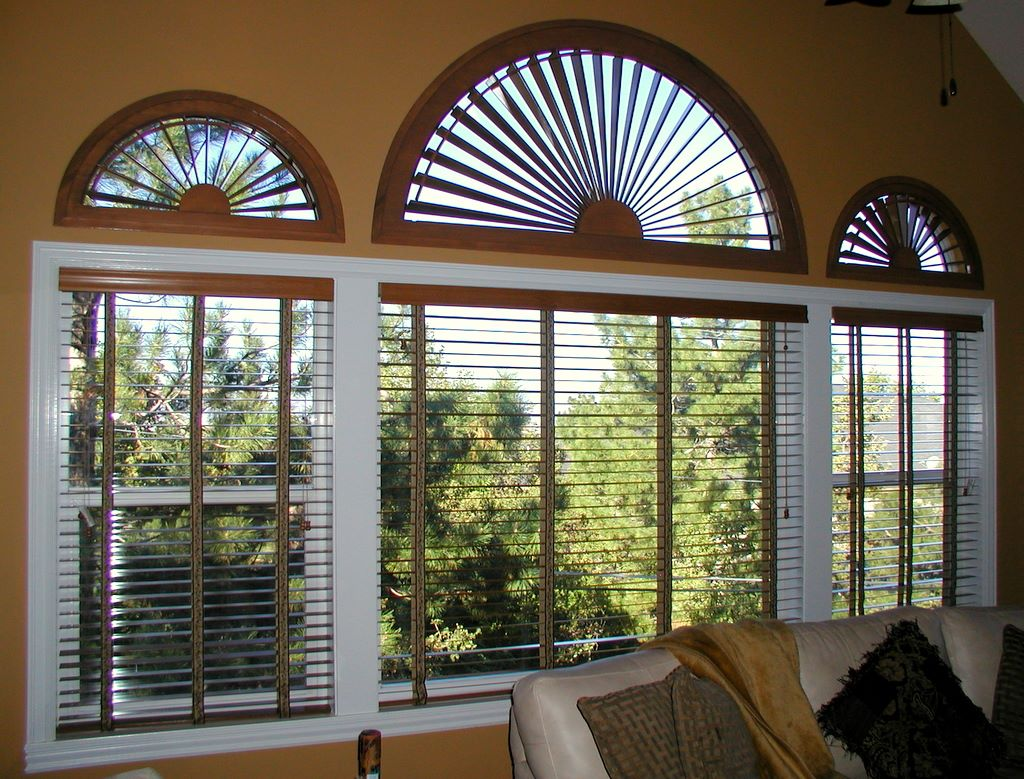 Unique window treatments - Sunburst Arches And Window Blinds