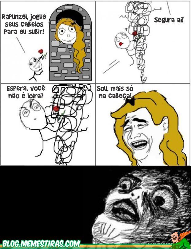 Tirinhas Memes Rapunzel