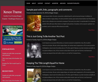 Xenon-Blogger-Template
