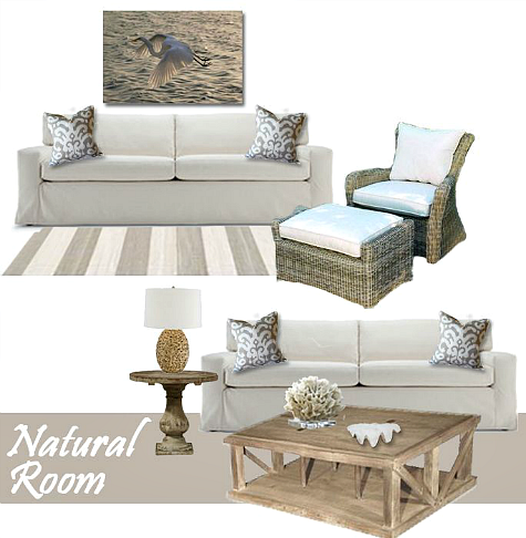 coastal Natural Living Room collection was designed with easy living