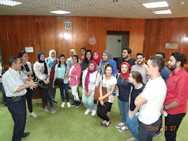During preparation for OSCE. Dr. Alaa Mosbah with role players and organizers