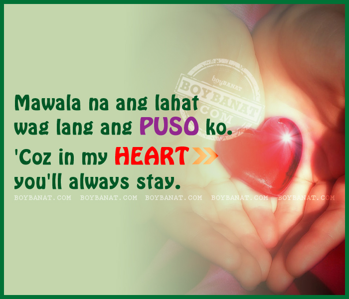 Tagalog Cheesy Love Quotes and Pinoy New Cheesy Quotes ~ Boy Banat