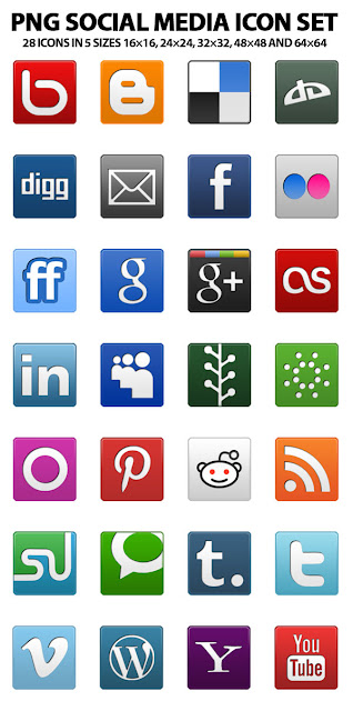 iconos png redes sociales