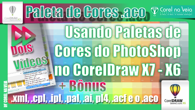 Usando Paletas de Cores do PhotoShop no CorelDraw X7