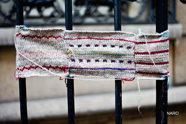 yarnbombing paris street art julie adore knitting