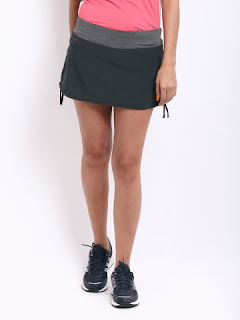 GREY RIVAL RUNNING SKIRT