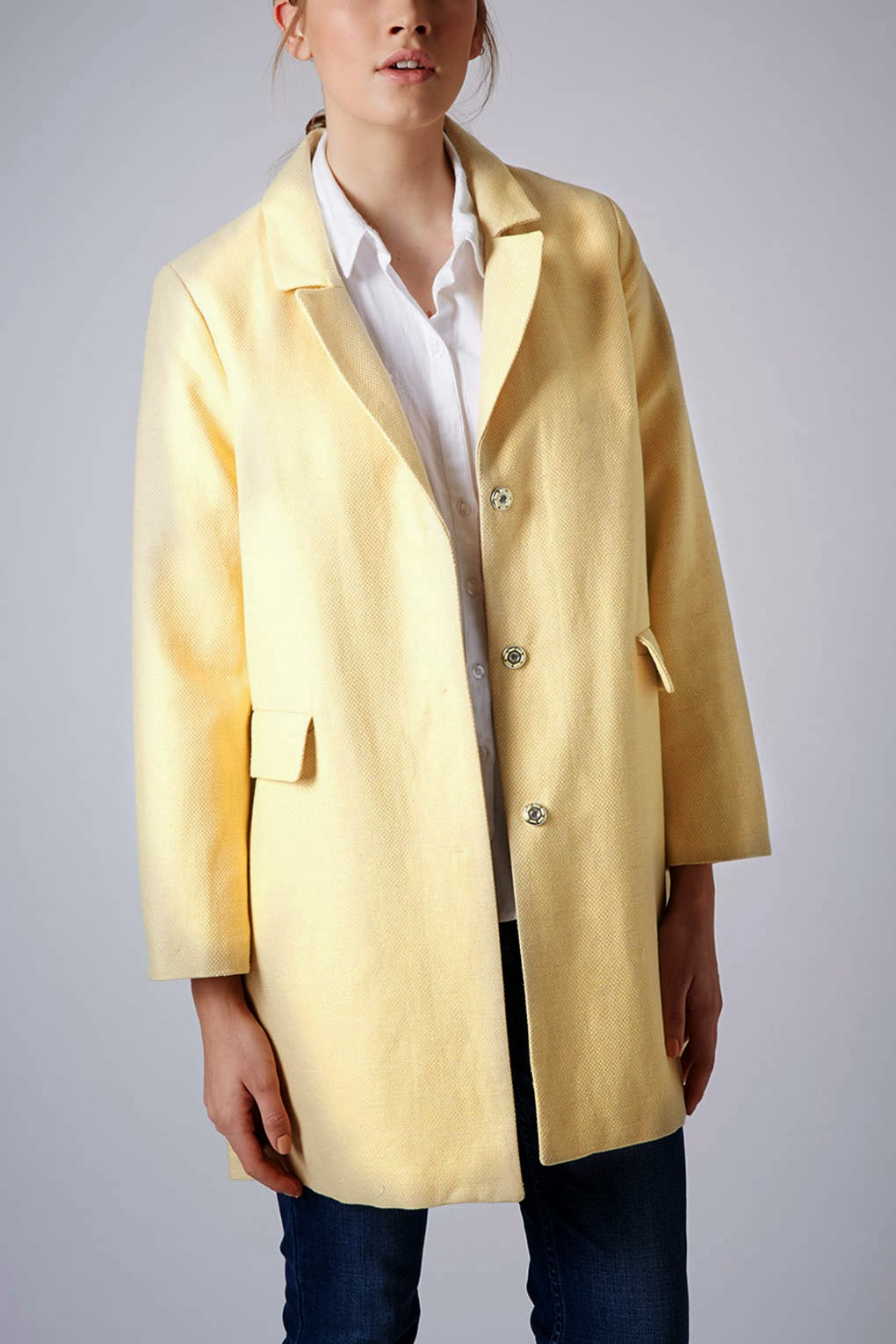 topshop lemon coat