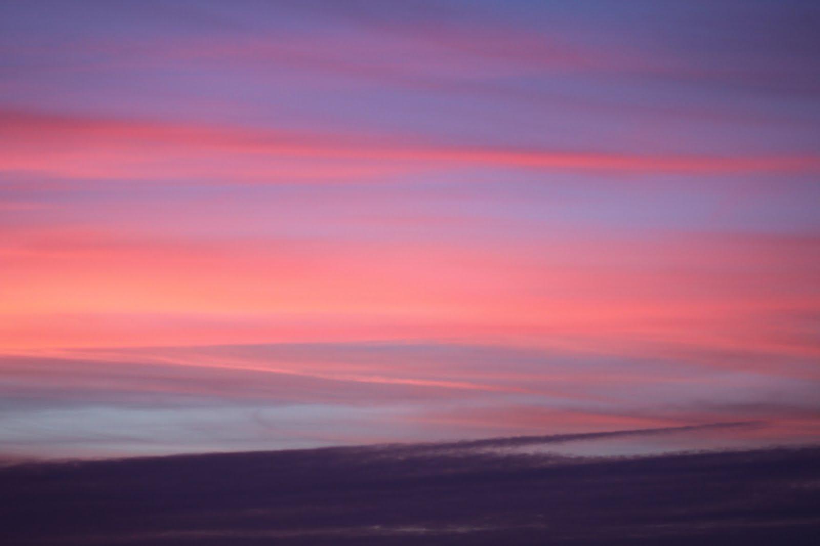 Coucher de soleil chez anne laure t - Coucher de soleil rose ...