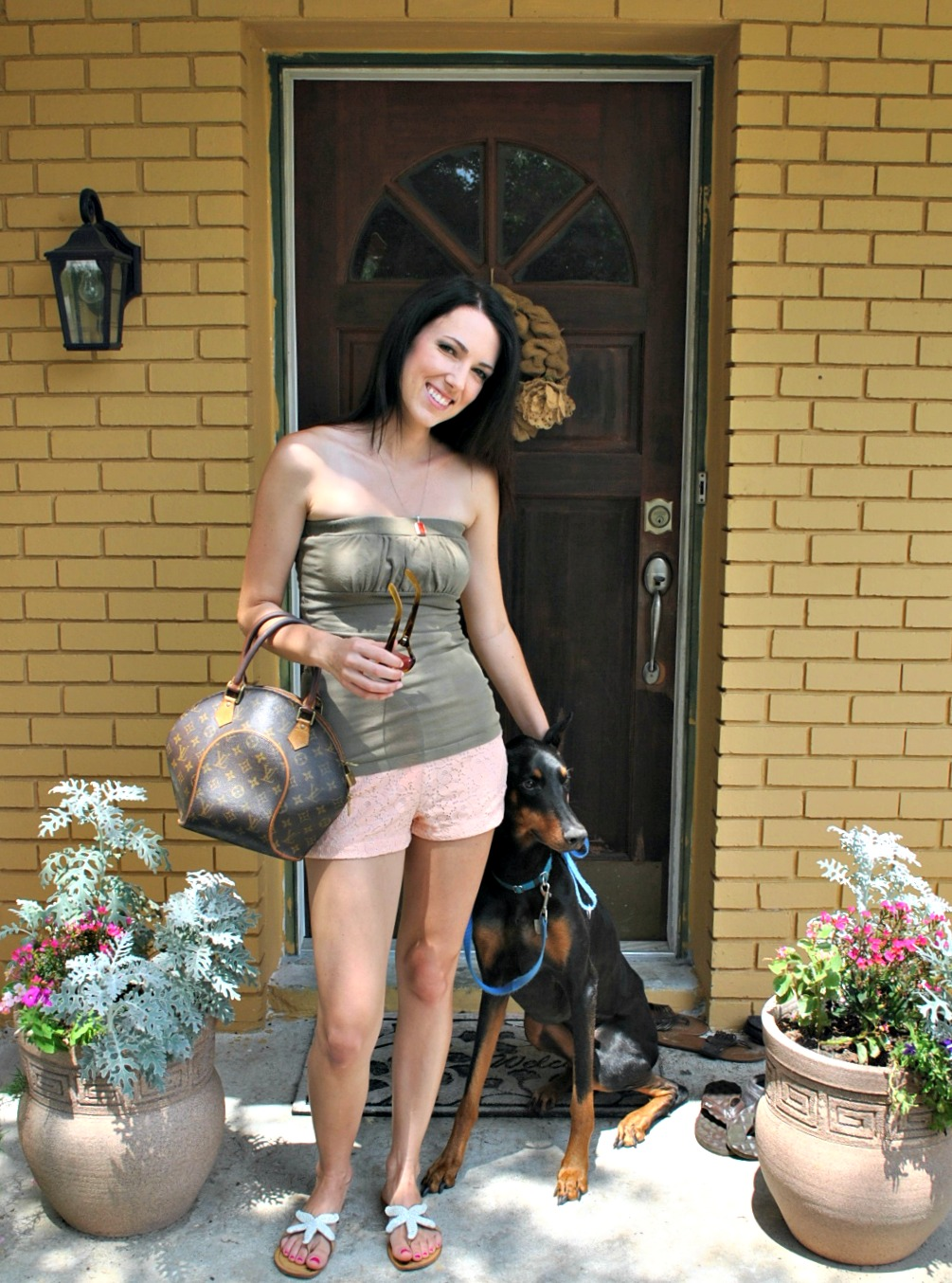 Fashion with Doberman, St. Augustine Blogger