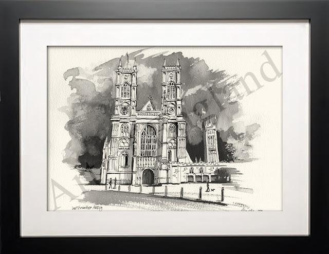 illustration of Westminster London