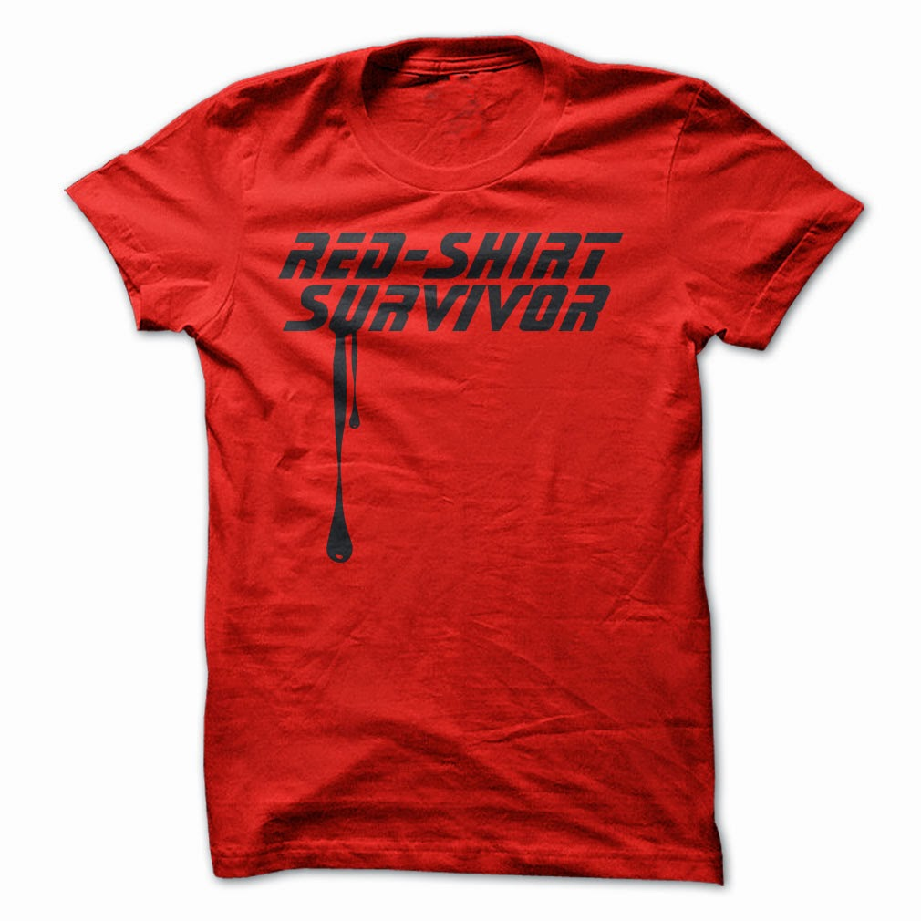 Red Shirt Survivor Star Trek T-shirt